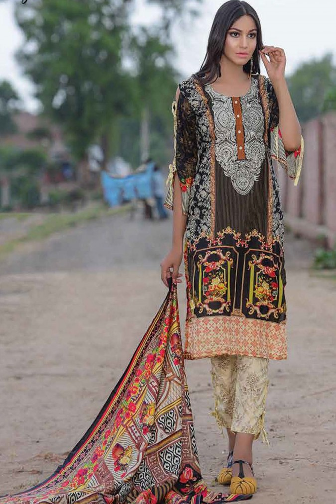 Lawn Embroidered Suit with Lawn Dupatta | RT-SCLS-26