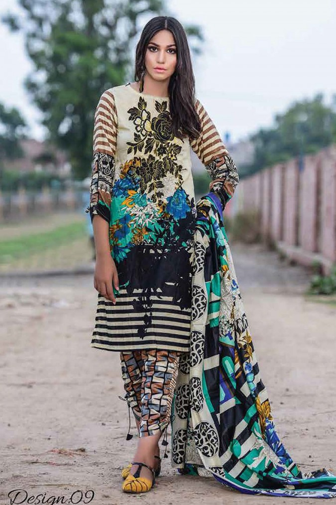 Lawn Embroidered Suit with Lawn Dupatta | RT-SCLS-28